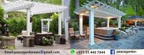 Wooden Royal Pergola | Royal White pergola | Arabian Royals Pergola Manufacturer