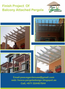 Pergola Attached with Balcony | B.B.Q Pergola |Car Parking Wooden Pergola Dubai