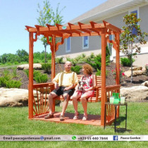 Solid Wooden Swing Pergola | Sewing Pergola For Kids & gardens manufactuerr