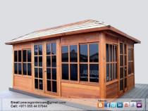 Wooden Gazebo Install | Wooden Gazebo Supplier Dubai | Garden gazebo Uae