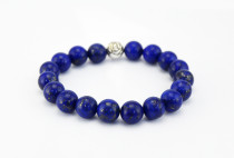Very good quality LAPIS LAZULI beaded bracelet for men