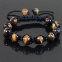 Natural AAA+ quality tiger's eye (shamballa style) bracelets for men
