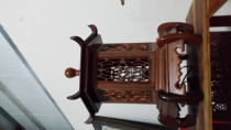 Old Chinese Rosewood Lamp