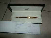 Montblanc Gold plated and black stripes