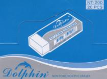 DOLPHIN® HI-CLEAN ERASER NT-200, made in Taiwan, 20 eraser per packet.