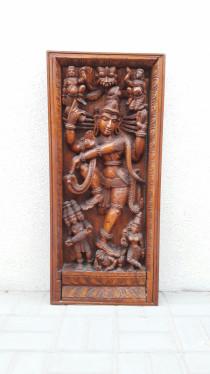 Hardwood carved lord vishnu