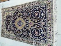 Blue handmade persian rug