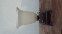 Old heavy glass table lamp