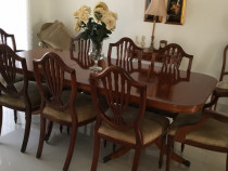 But Walnut  HEPPLEWHITE Chairs and Table