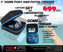 DOME PORT AND TRIGGER PACKAGE FOR GOPRO AND ACTION CAMERA