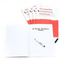 A4 Ruled with margin - Reusable Whiteboard Notebook  8 pages