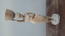 Carved woman statue