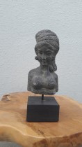 Stone carved woman.