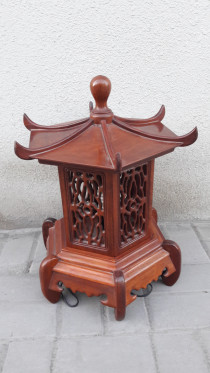 Rosewood chinese lamp.