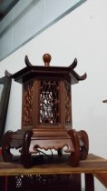 Antique Chinese Wooden Lamp