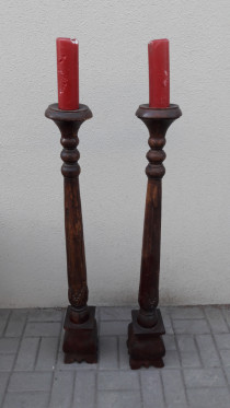 Very old candle stands