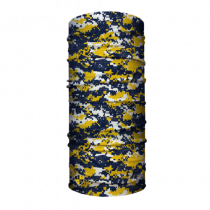 Face Shield / Mask - Navy & Yellow Digital Design