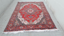 Red old persian rug