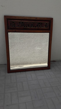 Big wooden carved mirror ,