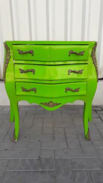 Green nightstand,
