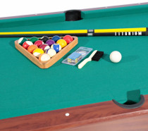 Roma Italy Billiard Table 7Feet and Accessories Set Brown/Green