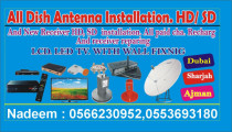 All kind of dish antenna installation any place dubai sharjah ajman