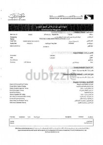 GENERAL TRAD LLC DUBAI-LICENSE FOR SHARE-IMMEDIATE TRANSFER TO START BUSINESS