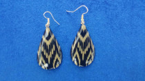 Earrings made from seashells with silver hook. different styles
