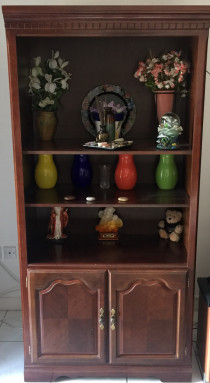 2 x wooden showcases for sale