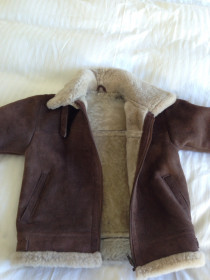 Boys Real sheepskin flying jacket - suit age 5-7 years old