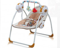 Kids Bright Electric Fold-able Baby Swing