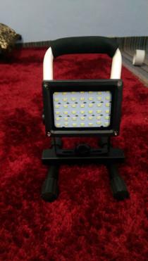 30W Rechargeable LED Flood Light 42 LED Dust & Rain proof