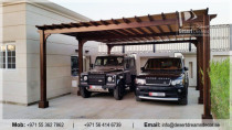 Cars Parking Pergola Abu Dhabi | Garden Wooden Shades | Wooden Structures in Uae