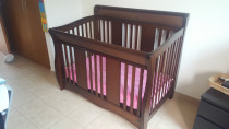 Complete nursery set! Cot bed, Drawers & Rocking chair with rocking stool set