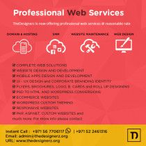 Professional Web Service in reasonable rate