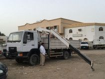 MAN Truck Crane 1998 model running condition.