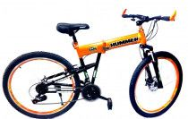 26 Inch Hummer Folding Bicycle, Orange