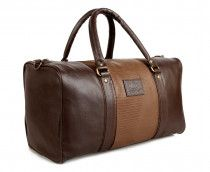 The Clownfish 18 inch Duffle Luggage Bag-Deluxe-(Brown)