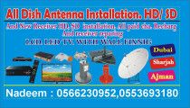 All kind of dish antenna installation hd sd any location dubai sharjah ajman