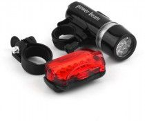 Bicycle LED Front Head Light and Tail Torch Back Light