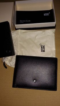 black montblanc wallet not used new