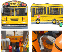 Inflatable school bus for a perfect kids party