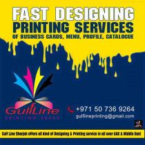 Fast Designing & Printing Services of Business Cards, Menu, Profile, Catalogue