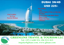 DUBAI TOUR PACKAGE-3N 4D