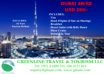 BRING YOUR FAMILY AND FRIENDS IN DUBAI-4N 5D