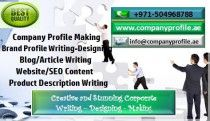 +971504968788 Blog/ Article Writing- Fascinating Company Profile Making Services