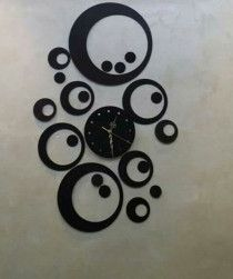 Wooden Wall clocks for home decoration - Moon Style