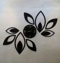 Wooden Wall clocks for home decoration - Flowers Style
