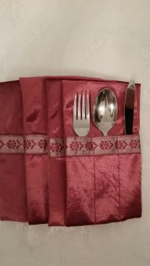 Pink Forks,Spoons,Knifes  holders  , contains 12 Pcs