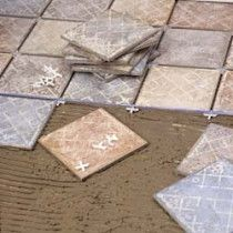 Tiling and wooden flooring parquet